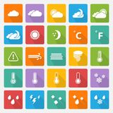 Vector Weather icons set Royalty Free Stock Image