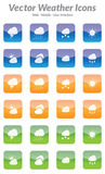 Vector Weather Icons Royalty Free Stock Image