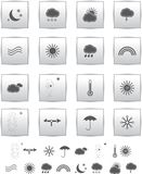 Vector Weather Icons. web llustration  gray. Royalty Free Stock Photo