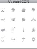 Vector Weather Icons. web set gray icon. Royalty Free Stock Images