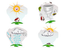 Vector weather illustration Royalty Free Stock Photography