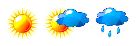 Vector weather set Royalty Free Stock Photography