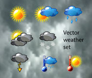 Vector weather set Stock Photos