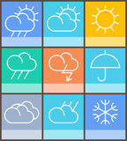 Vector weather sign Stock Photography