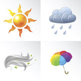 Vector Weather Symbols Stock Photography