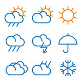 Vector weather symbols Stock Photo