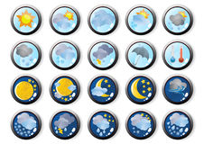 Vector-the-weather-web-icons Royalty Free Stock Photos
