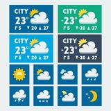 Vector weather widget Stock Image
