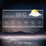 Vector Weather Widget Royalty Free Stock Images
