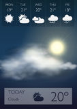 Vector Weather Widgets Royalty Free Stock Images