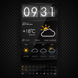 Vector weather widgets template Royalty Free Stock Photos