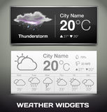 Vector Weather Widgets Royalty Free Stock Photo