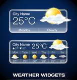 Vector Weather Widgets Royalty Free Stock Photos
