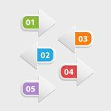 Vector web arrow buttons icon , infographic Royalty Free Stock Photography