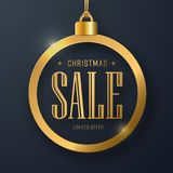 Vector web banner design with a Christmas toy and text   Stock Photography