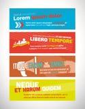 Vector web banner design templates Royalty Free Stock Photography
