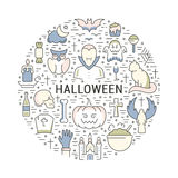 Vector Web Banner or Emblem Halloween Royalty Free Stock Photography