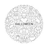 Vector Web Banner or Emblem Halloween Royalty Free Stock Photos