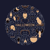 Vector Web Banner or Emblem Halloween Royalty Free Stock Images