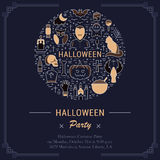 Vector Web Banner or Emblem Halloween Stock Images