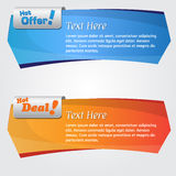 Vector Web Banner Royalty Free Stock Photo