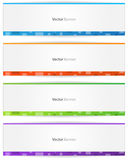 Vector Web Banner Stock Photography