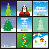 Vector web banner with holidays layouts Stock Images