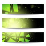 Vector web banners. One, two, three. Presentation slide template. Abstract background. Business background. Technology background. Business card. Technology Royalty Free Stock Image