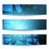 Vector web banners. One, two, three. Presentation slide template. Abstract background. Business background. Technology background. Business card. Technology Royalty Free Stock Photos