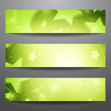 Vector web banners. One, two, three. Presentation slide template. Abstract background. Business background. Technology background. Party background. Music Royalty Free Stock Images