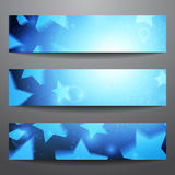 Vector web banners. One, two, three. Presentation slide template. Abstract background. Business background. Technology background. Party background. Music Stock Images