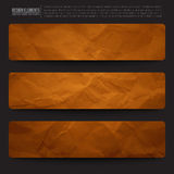 Vector Web Banners Royalty Free Stock Photography