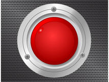 Vector web button design on gray background Stock Image