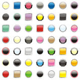 Vector web buttons Stock Photo