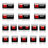 Vector web buttons. Vector buttons for web applications Stock Images