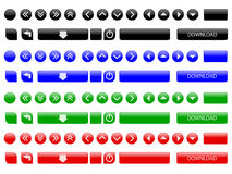 Vector web buttons Stock Images