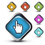 Vector web buttons Royalty Free Stock Photography