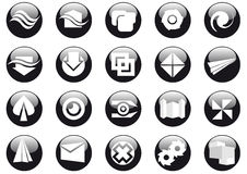 Vector web buttons. Abstract vector illustration of web buttons Royalty Free Stock Photography