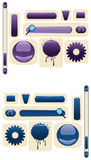 Vector web buttons. Stylish vector buttons for the design of web sites Royalty Free Stock Photo