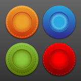 Vector  web buttons. With ornaments and shadows. Eps10 Royalty Free Stock Photos