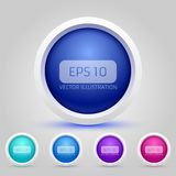 Vector Web Buttons Pack. This is file of EPS10 format Royalty Free Stock Images