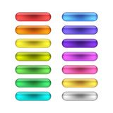 Vector web buttons set. Vector bright colored web buttons set Royalty Free Stock Photo