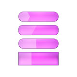 Vector web buttons set. Colored blank  web buttons set - purple Stock Image