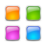 Vector web buttons set Royalty Free Stock Photography