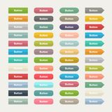 Vector Web  color buttons in flat stile isolated Stock Photography