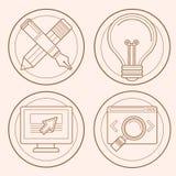 Vector web design and development emblems Stock Image