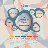 Vector web design template Stock Image