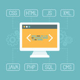 Vector web development concept in flat style Royalty Free Stock Image