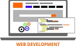 Vector - web development Royalty Free Stock Photography