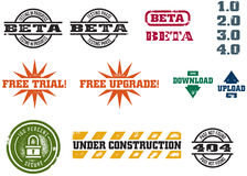 Vector Web Development Stamps Royalty Free Stock Image